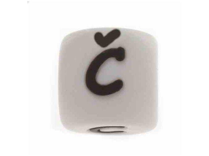 """Silikonová písmenka - """"Č"""" (1ks)"""