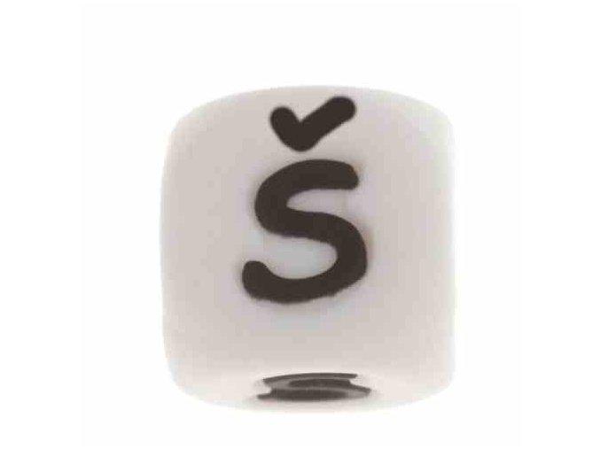 """Silikonová písmenka - """"Š"""" (1ks)"""