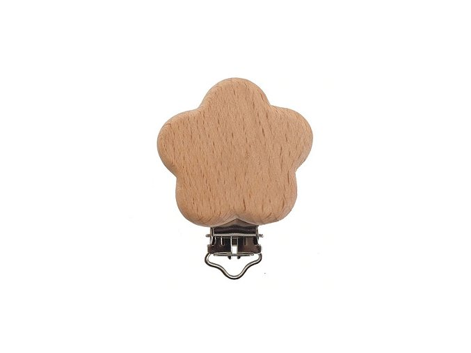 Klip na dudlík dřevěný (1ks) - KYTKA