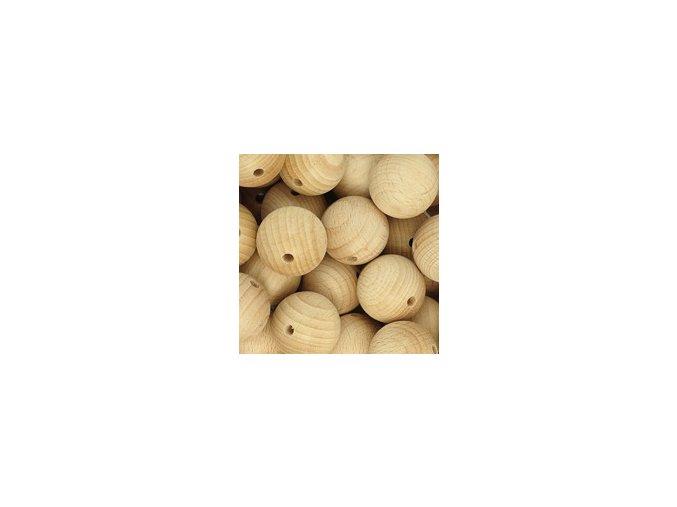 Dřevěné korálky MAXI pr.50mm (1ks) - přírodní