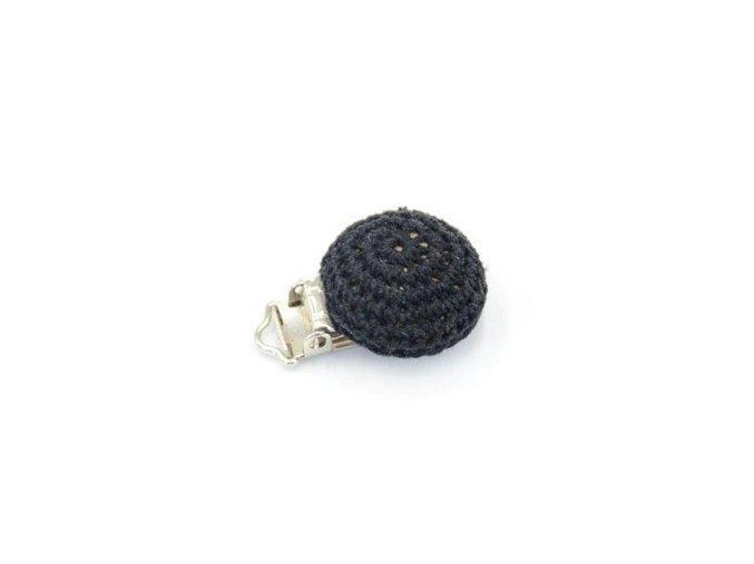 Klip na dudlík háčkovaný 29mm (1ks) - black
