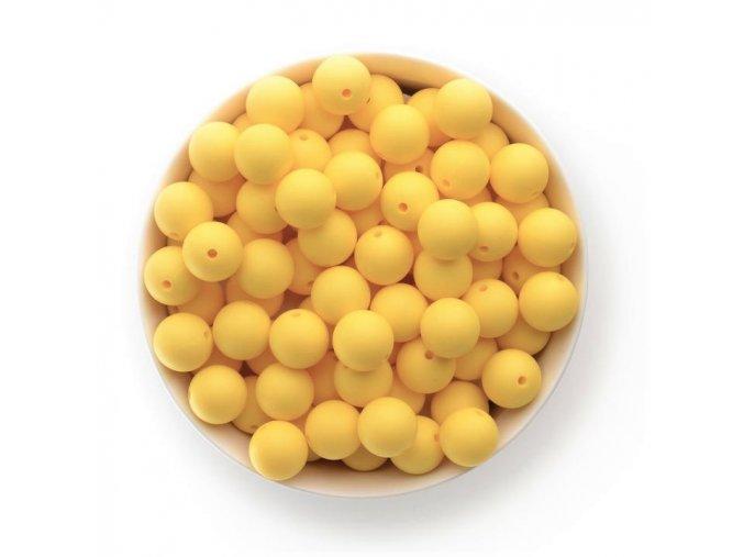 Silikonové korálky Ø15mm (10ks) - pastel yellow