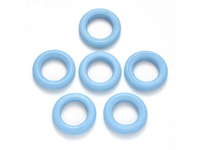 Dřevěný kroužek vnější pr. 33mm (10ks) - baby blue