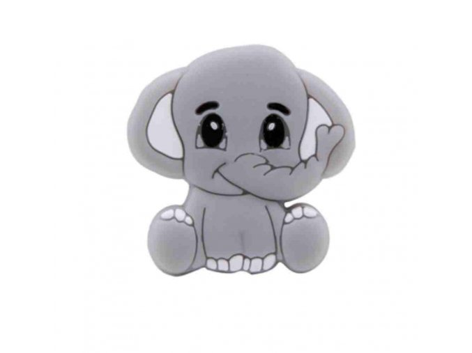 Silikonový MINI sloník 25mm (1ks) - grey
