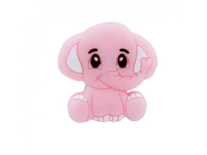 Silikonový MINI sloník 25mm (1ks) - pink
