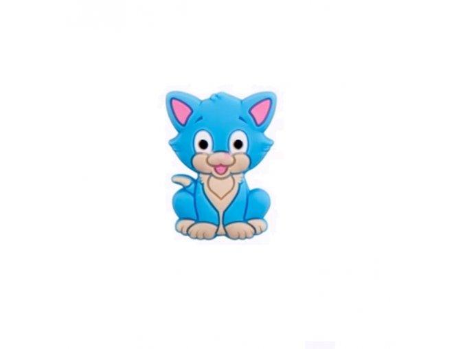 Silikonová MINI kočička 30mm (1ks) - blue
