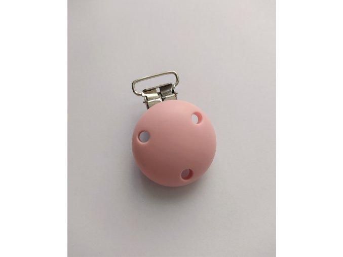 AKCE Klip na dudlík silikonový (1ks) - candy pink 35mm
