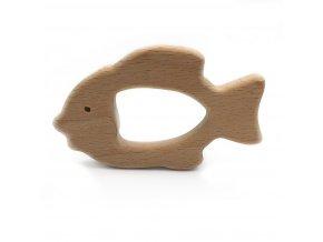 Dřevěné kousátko 80mm (1ks) - rybka