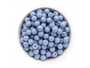 Silikonové korálky 12mm (10ks) - powder blue