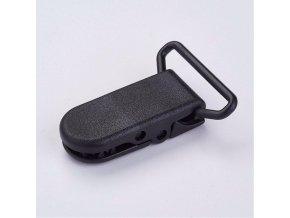 Klip na dudlík 20mm (2ks) - černá