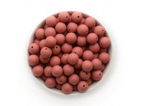 Silikonové korálky 15mm (10ks) - light maroon