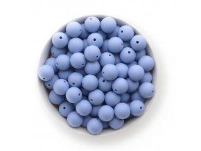 Silikonové korálky 15mm (10ks) - powder blue
