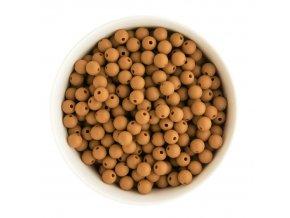 Silikonové korálky 10mm (10ks) - sandy brown