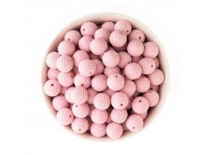 Korálky silikonové 15mm (1ks) - pink