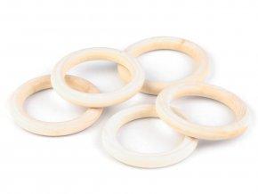 Dřevěný kroužek vnější pr. 55mm (1ks) - bříza AKCE