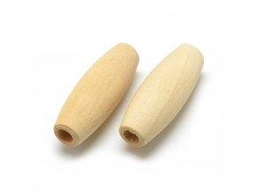 Dřevěné korálky OLIVA 32x12mm (10ks)