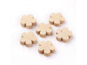 Dřevěné korálky KYTIČKA 20mm (10ks)