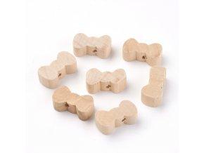 Dřevěné korálky MAŠLE 20X11mm (10ks)