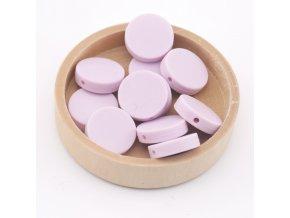 Silikonové korálky placka 20mm (1ks)-candy purple
