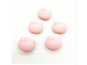 Silikonová HELLO KITTY 25mm (1ks) - baby pink