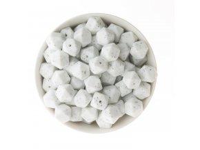 Silikonové korálky hexa 14mm (1ks) - gritty