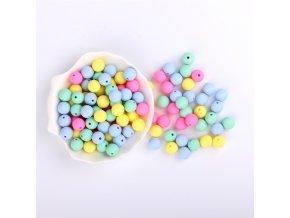Silikonové korálky 15mm (10ks) - candy mix