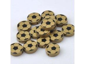 Dřevěné korálky MÍČ 20mm (5ks) - zlatý