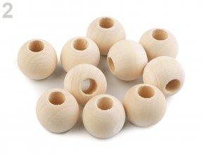 Dřevěné korálky nelakované 20 mm (10ks)
