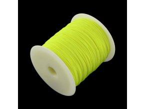 Nylonová šňůrka pr.1mm (10m) - neon žlutá