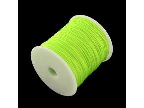 Nylonová šňůrka pr.1mm (10m) - neon zelená