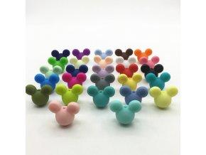 Korálky MickeyMouse 2cm - (1ks) - turquoise