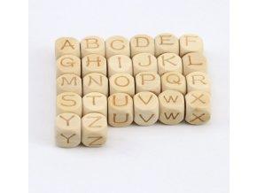"""Korálky písmenka 12mm (1ks) - """"A"""""""