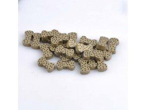 Dřevěné korálky motýlek 21x11mm (5ks) - zlatá