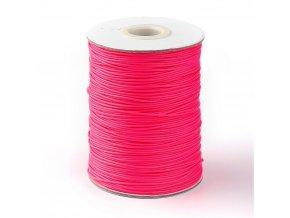 Šňůra voskovaná pr.1mm (10m) - růžová sytá