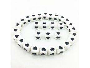 Silikonová kostka - srdíčko (1ks)