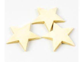 Dřevěné korálky hvězda (2ks)