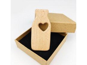 Dřevěné kousátko 62mm (1ks) - Lahvička