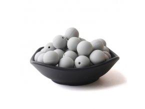 Silikonové korálky 20mm (1ks) - light grey č.22