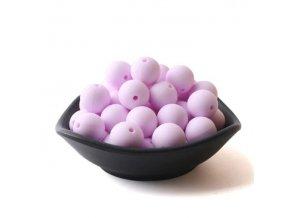 Silikonové korálky 20mm (1ks) - candy purple č.19