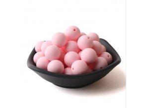 Silikonové korálky 20mm (1ks) - candy pink č.17