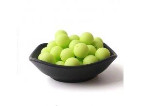 Silikonové korálky 20mm (1ks) - lime green č.13