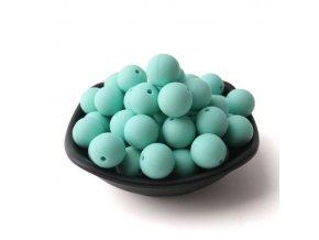 Silikonové korálky 20mm (1ks) - aqua (č.11)
