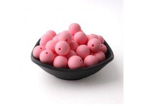 Silikonové korálky 20mm (1ks) - pale pink č.7