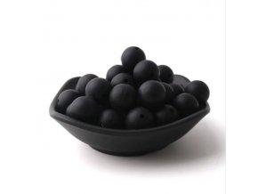 Silikonové korálky 20mm (1ks) - black č.3