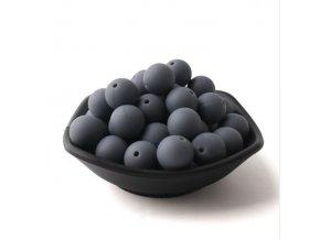 Silikonové korálky 20mm (1ks) - gray č.2