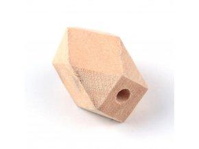 Dřevěné korálky hexa 16x10mm (10ks)
