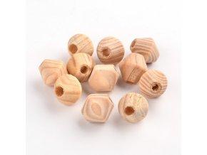 Dřevěné korálky bicone 16x15mm (10ks)