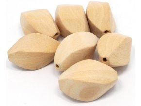Dřevěné korálky twist 40x25mm (1ks)