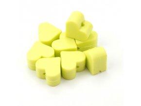 Silikonové srdíčko 14mm (2ks) - lime