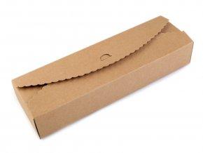 Papírová krabička natural se zdobeným krajem (1ks)